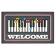 Piano & Happy Notes Welcome Mat