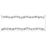 Music Notes 5ft Indoor/Outdoor Banner