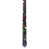 Festive Notes Narrow Necktie
