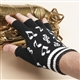 Fingerless Music Notes Gloves