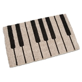Piano Keys Coir Doormat