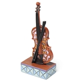 Jim Shore Mini Violin Figurine