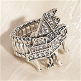 Crystal Grand Piano Stretch Ring