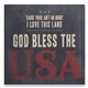 God Bless The USA Lyrics Wall Art