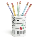 Music & Roses Pencil Holder