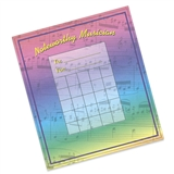Rainbow Music Chart Notepad
