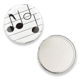 Spotlight Music Notes Purse Mirror