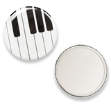 Spotlight Piano Keys Purse Mirror