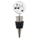 Spotlight Music Notes Bottle Stopper