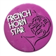 French Horn Star Button