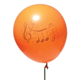Orange Notes Party Balloons