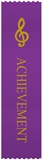 G-Clef Purple 'Achievement' Ribbons, Set of 10