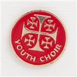 Jerusalem Cross ' Youth Choir' Enamel Pin