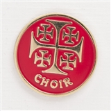 Jerusalem Cross 'Choir' Enamel Pin