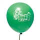 Green Notes Party Balloons