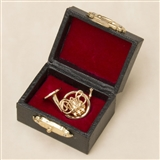 French Horn Pin with Case