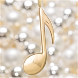 Gold Eighth Note Ornament