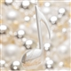 Silver Eighth Note Ornament