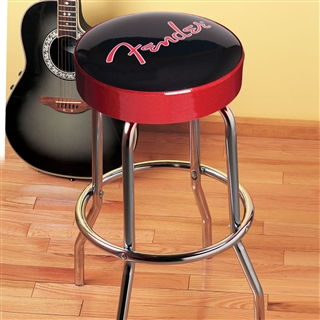 Fender Logo Bar Stool At The Music Stand