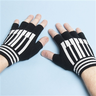Fingerless Piano Keys Gloves