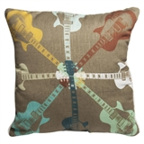 Stella Bradley's 'Guitars 8' Pillow