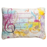 Colorful Notes & Clefs Pillow