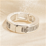 Sheet Music Stretch Ring