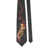 Tuba & Notes Necktie