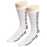 Men's Black and White Piano Keys Socks
