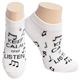 Women's 'Keep Calm and Listen' No-Show Socks