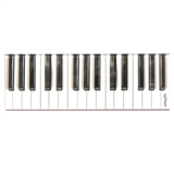 Cut-Out Piano Keys Magnet