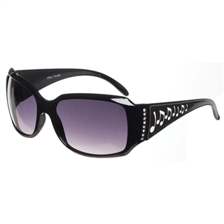 Music Notes and Crystals Sunglasses