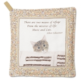 Cats & Music Potholder