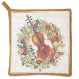 Violin & Wreath Potholder