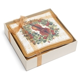 Violin and Wreath Scented Coasters