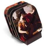 Classical Paintings Coasters Set With Stand