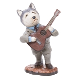 Hound Dog Guitar Player Figurine