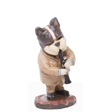 Hound Dog Clarinet Player Figurine