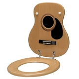 Acoustic Guitar Toilet Seat