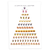 12 Days of Classical Music Tea Towel