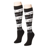 Sheet Music Knee-High Socks
