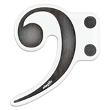 Cut-Out Bass Clef Magnet