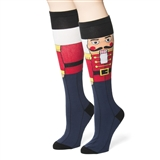 Christmas Nutcracker Knee-High Socks