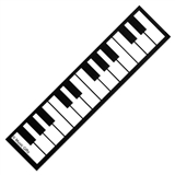 Piano Keys Laminated Bookmark