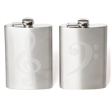 Con Spirito Engraved Hip Flask