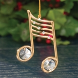 Double Quaver 24kt Gold-Plated Ornament
