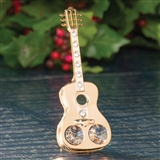 Acoustic Guitar 24kt Gold-Plated Ornament
