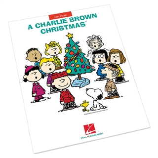 Charlie brown christmas songbook at the music stand