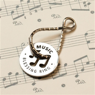 Music Blessing Ring Key Ring