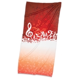 Music Wave Beach Towel